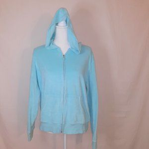 New York & Company Women's Blue Hoodie XL